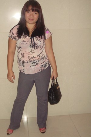 Matthews by CMG shoes - Morgan de Toi shirt - liz claiborne bag - Greenhills pan