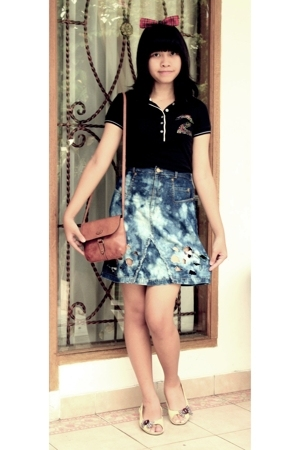 D-I-Y accessories - christian dior top - D-I-Y skirt - Zara shoes