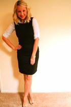 Payless heels - H&M dress - Burberry watch - Nordstrom bracelet - Mango blouse