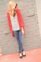 Anthropologie sweater - Forever 21 jeans - Forever 21 top