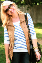 Burberry watch - Old Navy sweater - kate spade sunglasses - Old Navy vest