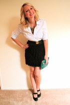 Target skirt - Nordstrom purse - Mango top - Forever 21 necklace