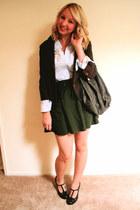 Forever 21 bag - Nordstrom blazer - Forever 21 skirt - MNG top - Mia heels