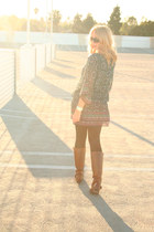 Payless boots - Forever 21 dress - Anthropologie watch