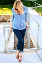 Old Navy blouse - Lauren Conrad jeans - Target sandals