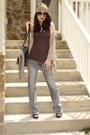 Light-blue-jeans-light-brown-forever-21-scarf-black-target-sunglasses-came