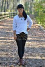 Dark-brown-tommy-hilfiger-boots-white-moms-sweater-gold-macys-purse