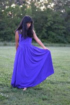 deep purple eShakti dress