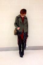 coat - Zara scarf - leopard tory burch bag - Diesel heels
