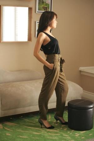 American Apparel - American Apparel bra - Zara pants - Miu Miu shoes