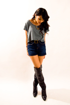 aa shirt - UO shorts - Steve Madden boots