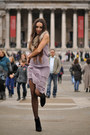 Suede-ankle-asos-boots-love-dress-faux-fur-collar-h-m-scarf