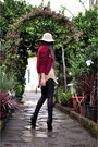 Kurt-geiger-boots-floppy-american-apparel-hat-glassworks-jacket-zara-pants