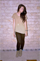 light brown shirt