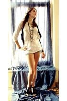 dunno shirt - Zara vest - Zara shirt - Pimkie jeans - dunno accessories - Mary P