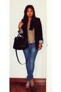 Blue-zara-jeans-navy-zara-blazer-black-zara-bag-tan-zara-heels-tan-zara-