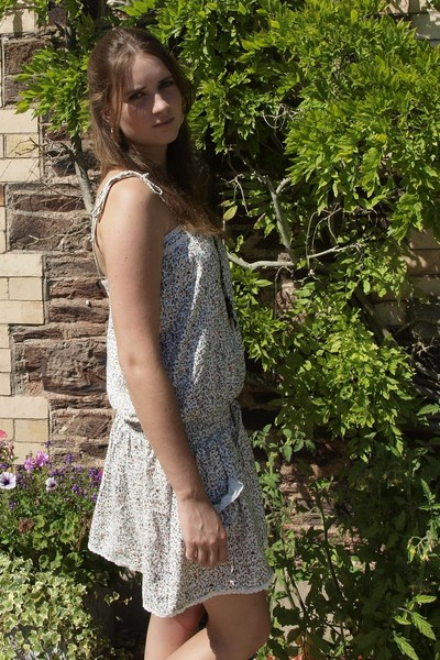 Zara dress - H&M accessories