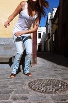 Zara t-shirt - Zara jeans - Bijou Brigitte accessories - Zara shoes - H&M access