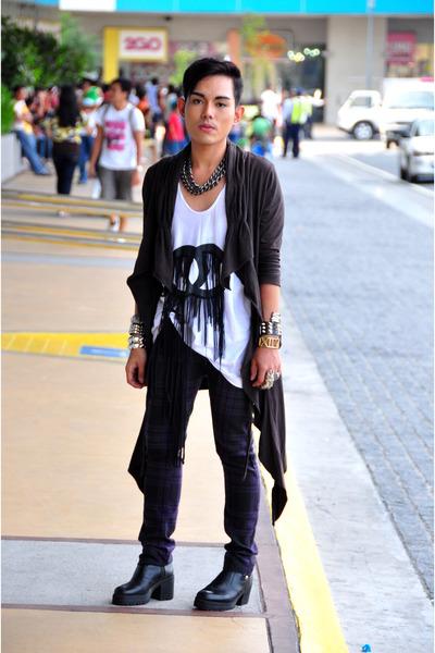 Proud Race shirt - purple jean paul gaultier pants - black Guiseppe Zanotti shoe