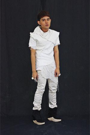 Soule Phenomenon shoes - don protasio shirt - DIY shirt - thank you today vest