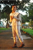 thank you today white vest vest - don protasio mesh shirt shirt - Junya Watanabe