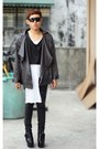 Black-five-by-five-boots-black-oxygen-jacket-white-fruit-of-the-loom-shirt-