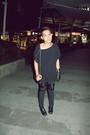 Black-endovanera-t-shirt-black-diy-pants-black-guiseppe-zanotti-boots-blac