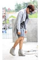 undercover jacket - Paradigm Shift shirt - F stop wedges