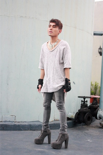Zara shirt - Soule Phenomenon boots - acne pants