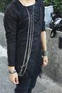 Black-shredded-top-black-xing-pants-black-from-harajuku-boots-silver-anago
