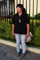 Opposite shoes - Zara bag - Secondhand blouse