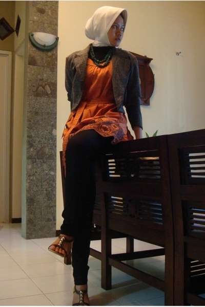 jacket - H&amp;M dress - pants - gabino shoes