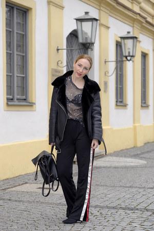 Sheinside t-shirt - Primark boots - Zara jacket - Sheinside pants