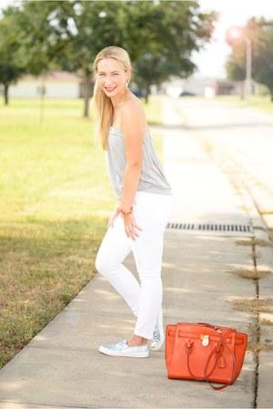 Michael Kors bag - asos flats - Zara pants