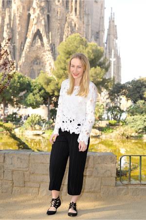 sammydress blouse - zaful pants - asos flats