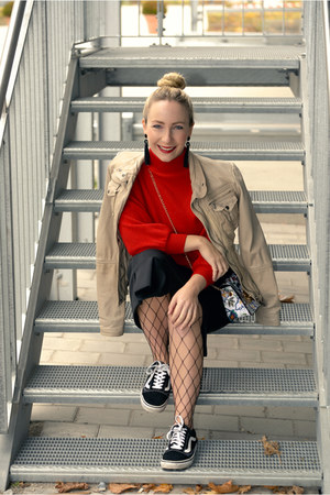 Popjulia sweater - H&M skirt - Vans sneakers