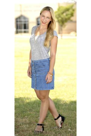 set shirt - Zara skirt - Primark sandals