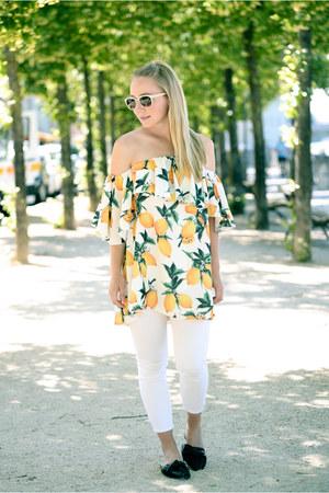 Zara jeans - zaful top - Zara flats