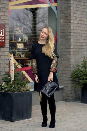 GAMISS boots - Sheinside dress - Accessorize bag