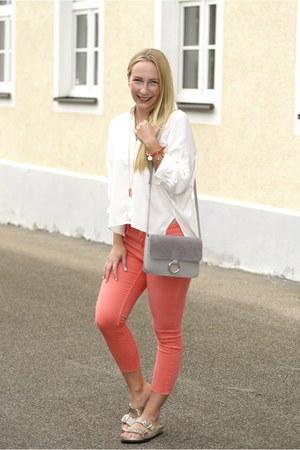 Anne Chen blouse - Zara jeans - sammydress bag - white mountain flats