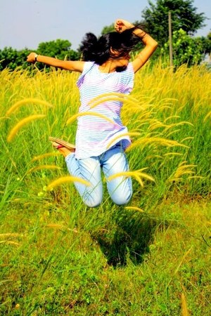 periwinkle silk modcloth jeans - ivory silk Mango t-shirt
