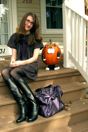 Tulle dress - Dou boots - modcloth purse - stockings