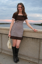 dress - boots - modcloth purse