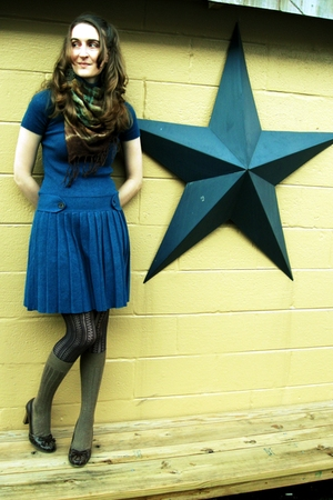 Victorias Secret dress - scarf - free people tights - socks - Bongo shoes - acce