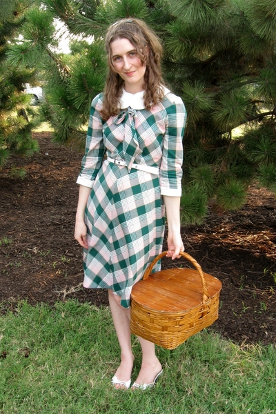 green vintage from Eclectic Vintage dress