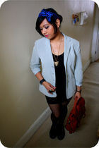 blue Primark accessories - black Primark top - black Rebel Rebel skirt - gold Di