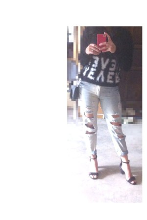 forest green Accessorize shoes - black bag - Forever 21 pants