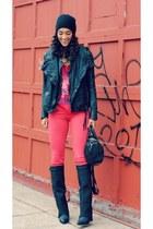 Muubaa jacket - Jeffrey Campbell boots - Alice  Olivia jeans