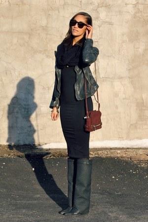 leather jacket Muubaa jacket - Jeffrey Campbell boots