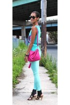 Forever 21 purse - Sigerson Morrison shoes - aquamarine blank nyc jeans
